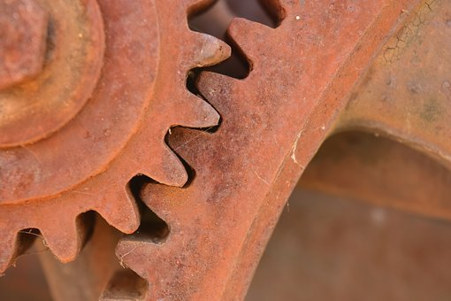 Gears, Metal, Stainless, Technology, Machine, Old