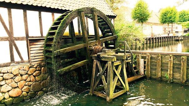 Mill, Water Mill, Old, Mill Wheel, Worn