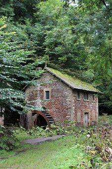 Water Mill, Old Mill, Old Water Mill, Water, Old, Mill