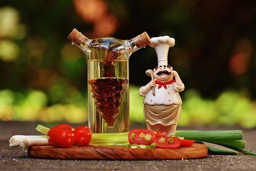 Cooking, Figure, Vinegar, Oil, Tomatoes, Onions