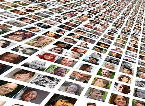 Photomontage, Faces, Photo Album, World, Population
