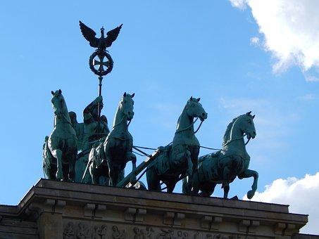 Berlin, Brandenburg Gate, Quadriga, Capital