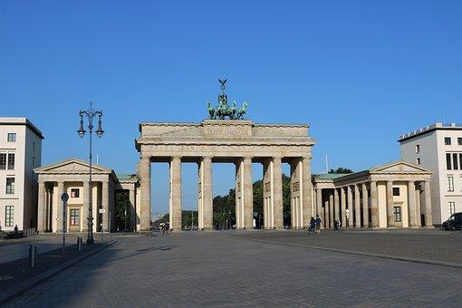 Berlin, Brandenburg Gate, Germany, Quadriga, Capital