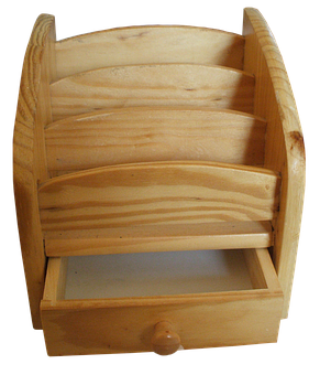 Wood, Drawer, Compartment, Storage, Remote Control