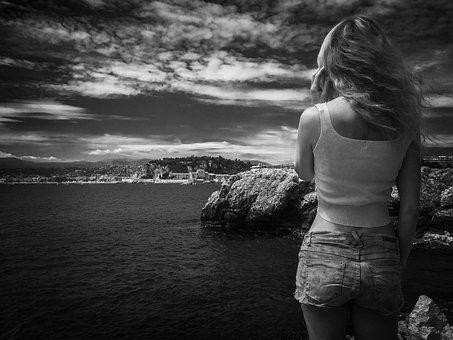 Holiday, Sea, Shorts, Good Mood, Hair, Woman