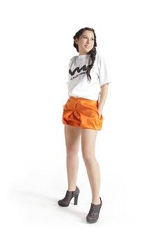 Girl, Orange, Short, Female, Hair, People, Person, Teen