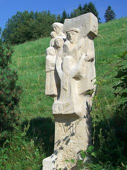 Way Of The Cross, Station 8, Sculpture, Stone, Chiseled