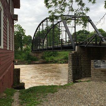 War Eagle Mill, Flood Water War Eagle Creek, Flood