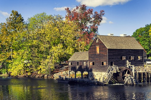 Mill, House, Water, Lake, Reflection, Nature