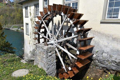 Waterwheel, Mill, Mill Wheel, Water Mill, Water Power