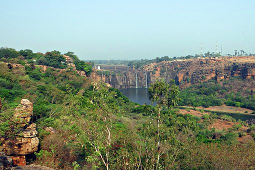 Gokak Falls, Waterfall, Weak Summer Flow