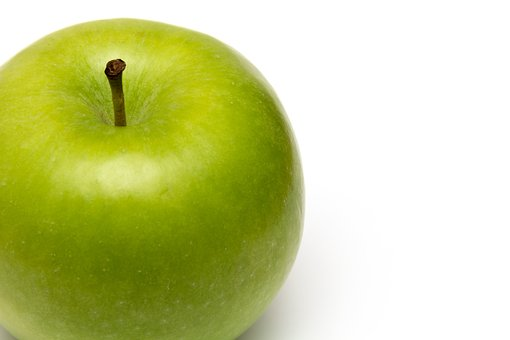 Apple, Green, Diet, White, White Background