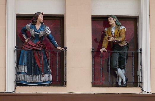 Madrid, Spain, Capital, Window, Fig, Statue, Fashion
