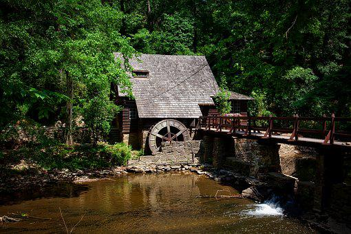 Mill House, Alabama, Landscape, Forest, Trees, Woods