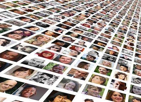 Photo Montage, Faces, Photo Album, World, Population