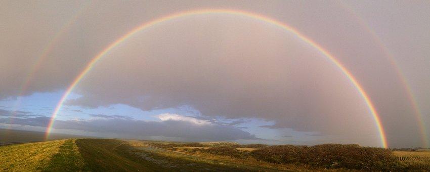 Rainbow, Föhr, Island, Rain, Colorful, Color, Autumn