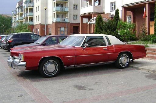Car, Toronado, Red, Auto, Oldsmobile