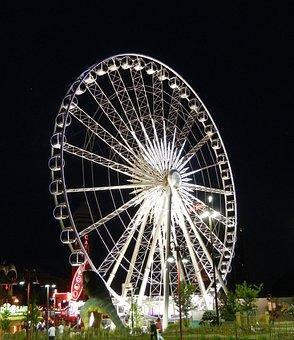 Ferris Wheel, Niagara Sky Wheel, Night Lights