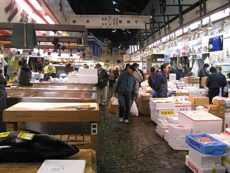 Japan, Tokyo, Fish, Market, Tsukiji, Tourist