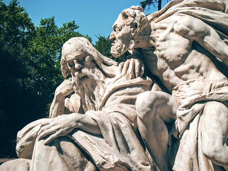 Goethe, Mephistopheles, Sculpture, Statue, Rome, Italy