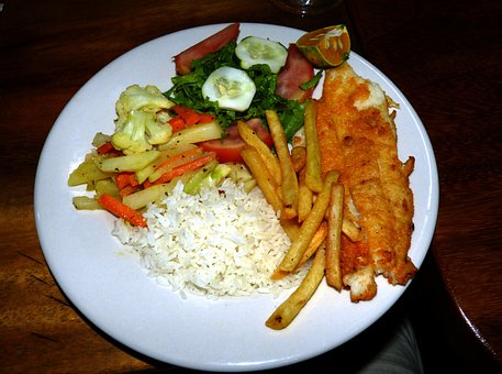 Eat, Food, Restaurand, Kitchen, Vegetables, Plate, Fish