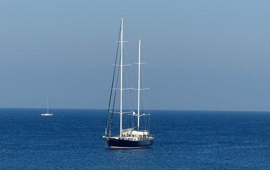 Sailing Boat, Mediterranean, Blue, Mast, Coast, Malta