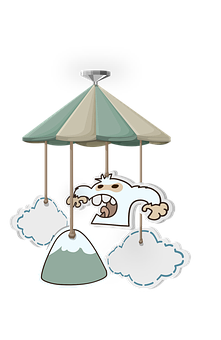 Pendant, Ceiling, Hanging, Monster, Clouds, Mountain