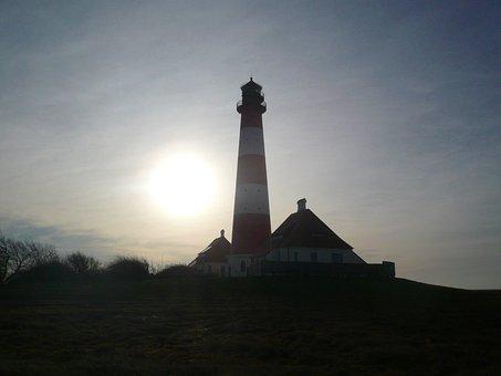 Westerhever, North Sea, Lighthouse, Nordfriesland