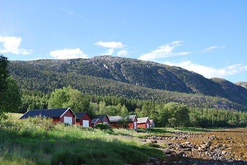 Bindalseidet, Norway, Houses, Scandinavia, Traditional