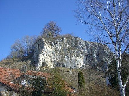Rock, Castle Rock, Eselsburg, Eselsburg Valley, Sky