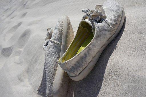 Canvas Shoe, White, Shoe, Sand
