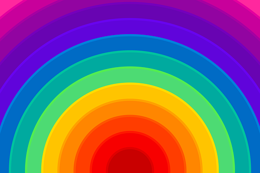Rainbow, Background, Colorful, Semicircle