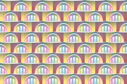 Seamless Pattern, Background, Abstract, Semicircle