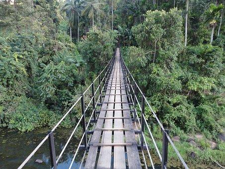 Danger Bridge, Broken Bridge, Old Bridge, Sri Lanka