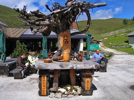 Wurzelsepp, Carving, Tree Root, Alm, Austria