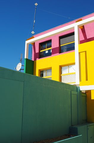 Architecture, Home, Live, Pink, Yellow, Green