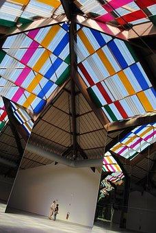 Artwork, Architecture, Reflections, Glass, Daniel Buren