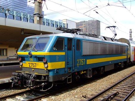 B 2757, Belgium, Train, Locomotive, Transportation