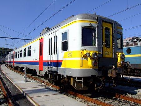 B 637, Belgium, Train, Locomotive, Transportation