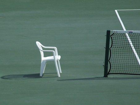 Tennis, Sport, Grass, Action, Net, Chair