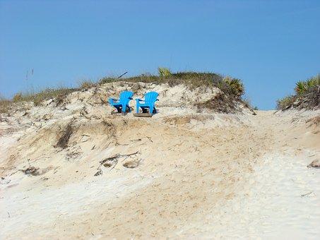 Beach, Chairs, Sand, Summer, Grayton Beach, Florida