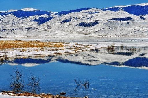 Clark Canyon, Reservoir, Montana, Landscape, Scenic