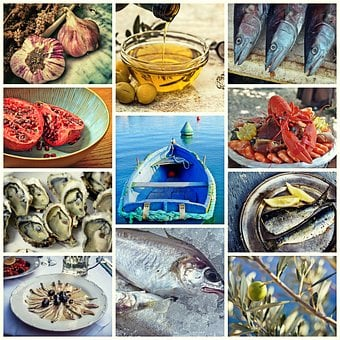Collage, Fish, Seafood, Food, Eat, Cook