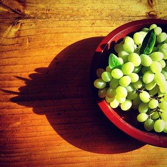 Ceongpodo, Fruit, Shadow, Basket, Chartreuse, Grapes