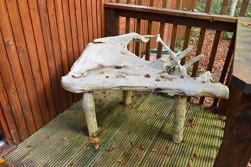 Chair, Bespoke, Rustic, Wood, Seat, Furniture