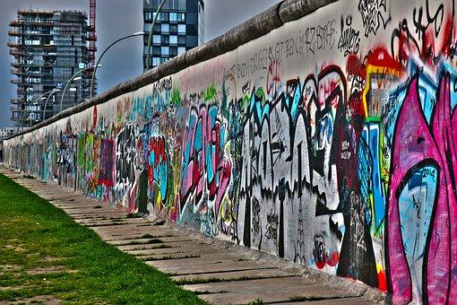 Berlin Wall, Berlin, Wall, Monument, Graffiti, Ddr