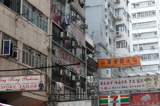 Hong Kong, China, Kowloon, Old Town, City, Big City