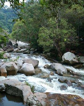 Waterfall, Water, Nature, Pahang, Bentong, Landscape
