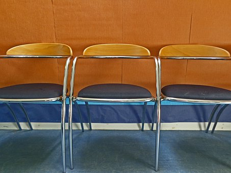 Empty, Chairs, Objects, Hall, Indoors, Three