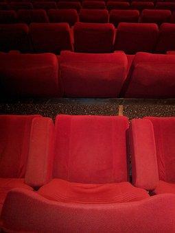 Cinema, Chair, Red, Chairs